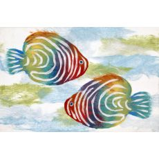 "Liora Manne Visions Iv Rainbow Fish Indoor/Outdoor Mat - Green, 20"" By 29.5"""