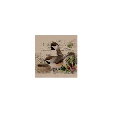 Winter Garden Chickadees Wall Art