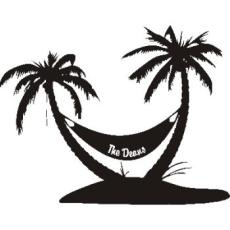 Personalized Palm Tree Vinyl Wall Decal