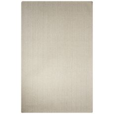 Solids Chevrons Pattern Ivory/White Wool Area Rug (8X10)