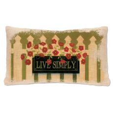 Welcome Live Simply Pillow, Natural
