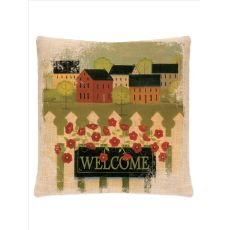 Welcome 18X18 Pillow, Natural