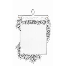 Boughs Of Holly Wall Hanging, White