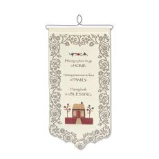 Home, Family, Blessing Wall Hanging, Ecru