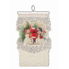 Santa & Snowmen Card Holder, Cafe