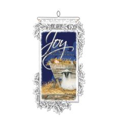 Nativity Joy Wall Hanging, White