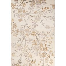 Floral & Leaves Pattern Wool And Viscose Windsor Area Rug