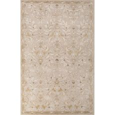Classic Oriental Pattern Ivory/Yellow Wool And Art Silk Area Rug (9X12)
