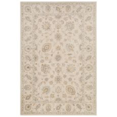 Classic Oriental  Pattern Ivory/White Wool And Art Silk Area Rug (9X12)