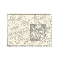 Woodland 14X20 Placemat, Ecru (Set Of 2)