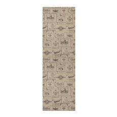 Wine Labels 17X54 Table Runner, Natural