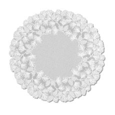 "Woodland 48"" Round Table Topper, White"