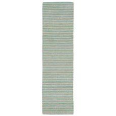"Liora Manne Wooster Stripes Indoor/Outdoor Rug - Blue, 24"" By 8'"