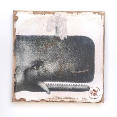 Whale Head Lithograph Art