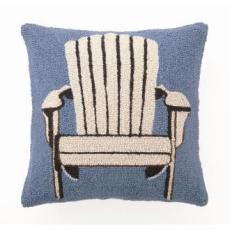 White Adirondack Chair Hook Pillow