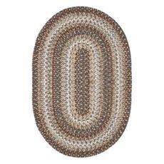 Homespice Decor 4' x 6' Oval Wildwood Ultra Durable Braided Rug
