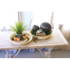 Round Willow Trays (set of 2)