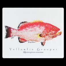 Yellowfin Grouper Mat With Border Floor Mat
