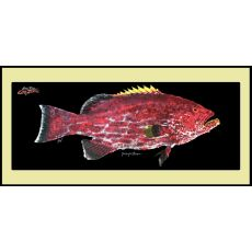 Yellowfin Grouper White Cutting Board