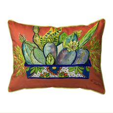 Cactus in Planter Extra Large Zippered Indoor/Outdoor Pillow 20x24