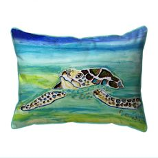 Sea Turtle Surfacing Extra Large Zippered Indoor/Outdoor Pillow 20x24