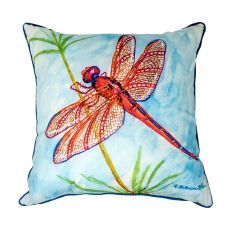 Red Dragonfly Extra Large Pillow 22X22