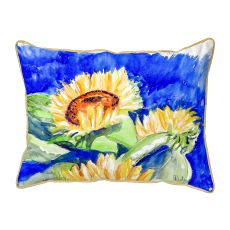 Gold Rising Sunflower Extra Large Pillow 20X24