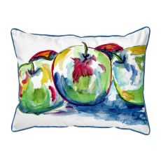 Three Apples  Indoor/Outdoor Extra Large Pillow 20X24
