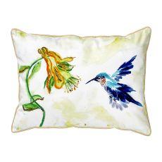 Hummingbird & Yellow Flower  Indoor/Outdoor Extra Large Pillow 2