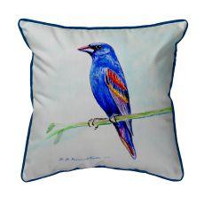 Blue Grosebeak  Indoor/Outdoor Extra Large Pillow 20X24