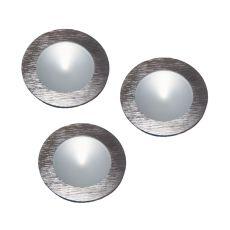 Ursa Collection 3 Light Disc Light Kit In Brushed Aluminum