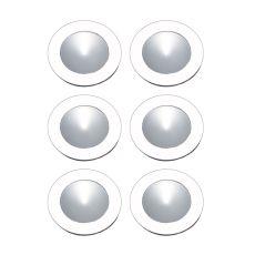 Ursa Collection 6 Light Disc Light Kit In White