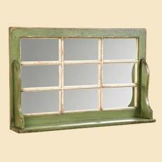 Window Mirror With Shelf