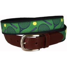 Tennis Leather Tab Belt