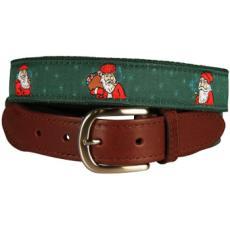 St. Nick Leather Tab Belt