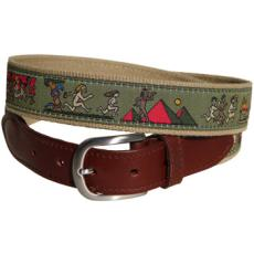 History of Streaking Leather Tab Belt
