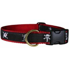 "Pirate Flags Midnight 1"" Dog Collar"