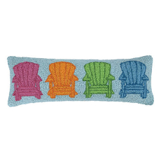 Adirondack Chairs Hook Pillow