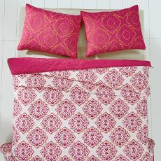Adria Bright Rose Bedding Set