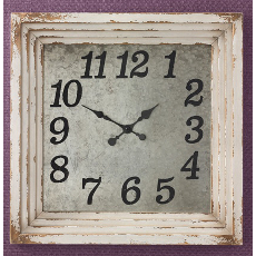 Aged Cream Distressed Clock