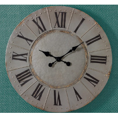 Aged Gray Metal Clock
