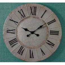 Aged Gray Metal Clock