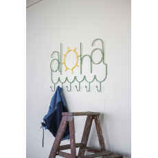 Painted Metal Aloha Coat Rack