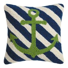 Anchor Stripes Hook Pillow
