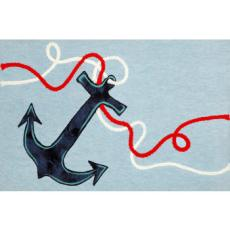 Anchor Light Blue Indoor Outdoor Rug