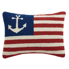 Anchor American Flag Hook Pillow