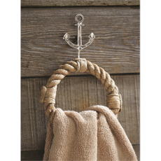 Anchor and Rope Towel Ring