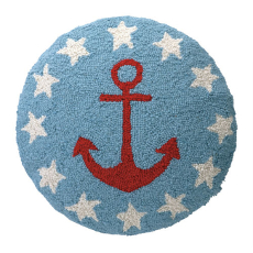 Anchor and Stars Round Hook Pillow