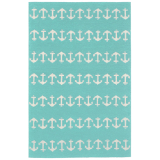 Anchor Aqua Indoor Outdoor Rug