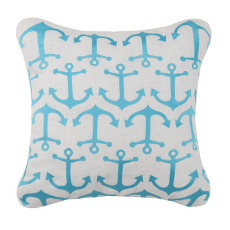Anchor Pattern Embroidered Pillow